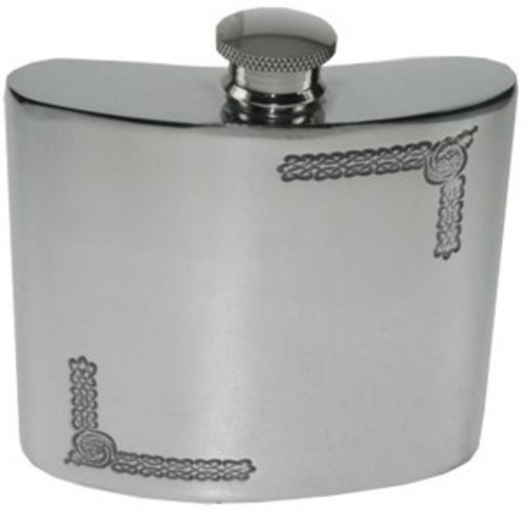 6oz Celtic Pewter Hip Flask
