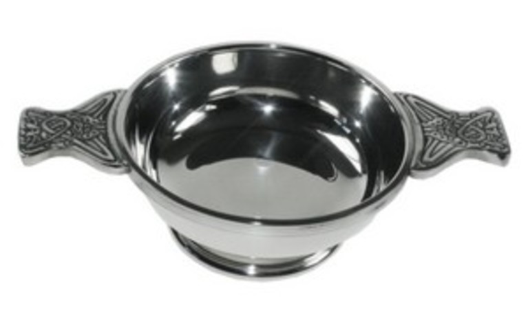 Plain Pewter Quaich Large