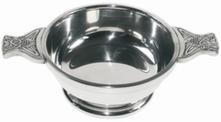 Plain Pewter Quaich Medium