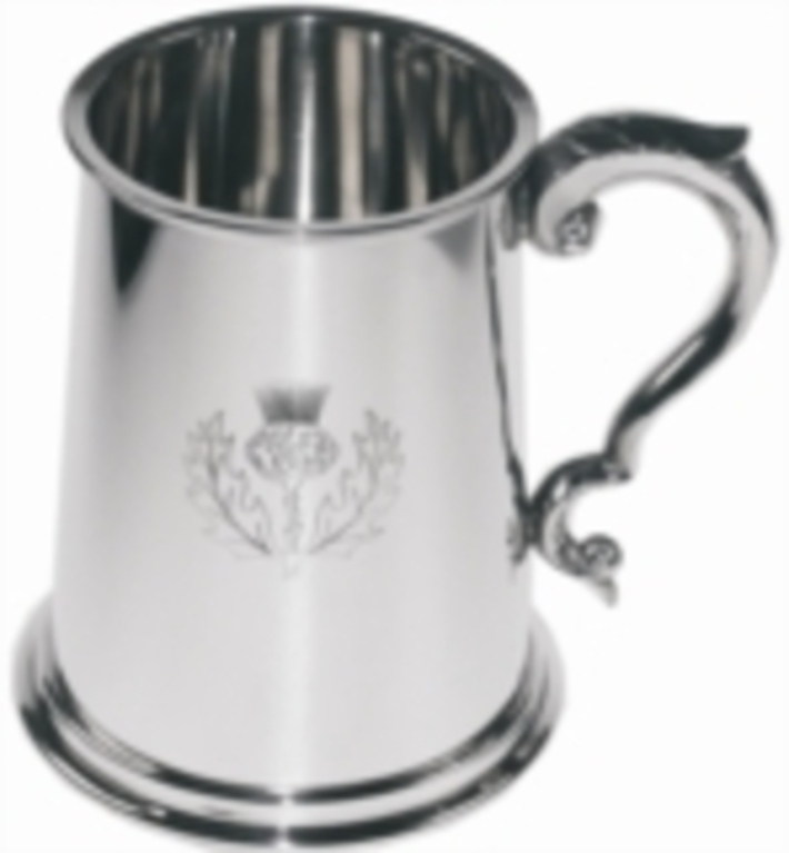 Pewter 1 Pint Thistle Tankard