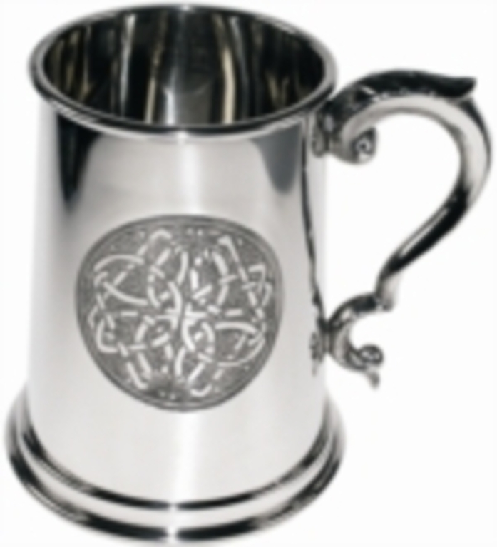 Pewter 1 Pint Celtic Circle Tankard