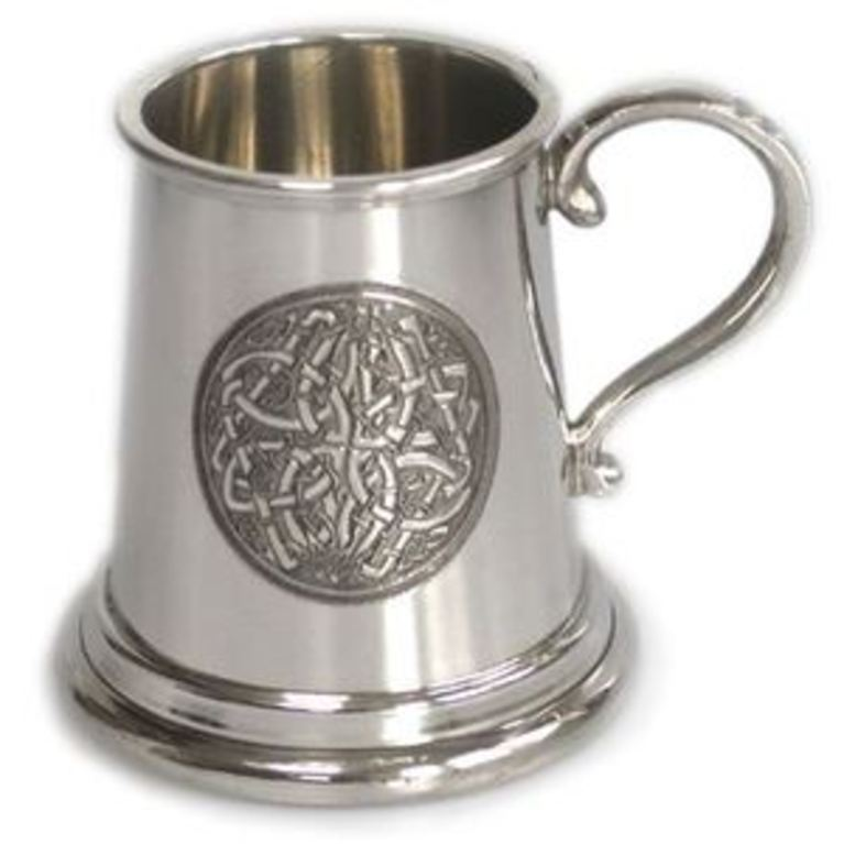 Pewter 1/4 Pint Celtic Circle Tankard
