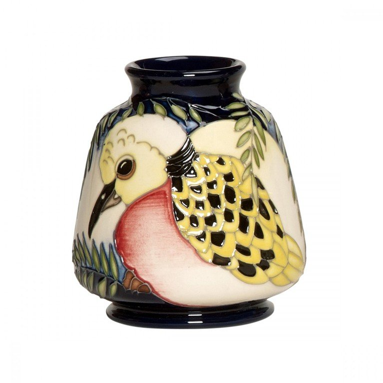 Moorcroft Two Turtle Doves Vase 198/3