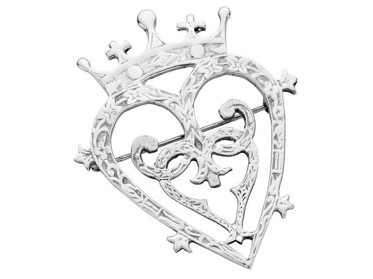 Hallmarked Silver Luckenbooth Brooch