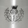 6oz Thistle Pewter Hip Flask Thumbnail